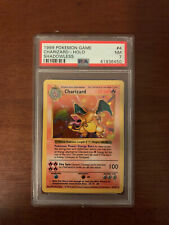 1999 Pokemon Base Set Shadowless Charizard 4/102 Holo Rare PSA 7 NM