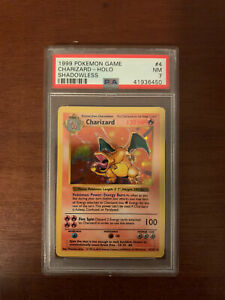 1999 Pokemon Base Set Shadowless Charizard 4/102 Holo Rare PSA 7 NM