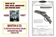 Manton 1927 Firearms and Ammunition Catalog (Calcutta, India)