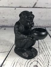 Black Monkey Candle Holder Tea Light Metal Chimpanzee Primate Target Animal