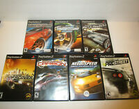7 pc Need for Speed lot for Ps2 Underground 1 & 2 , Carbon, Prostreet & More!!!