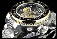 Invicta PRO DIVER Quartz Chronograph Gold Tone Silver Bracelet Watch