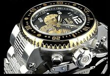 NEW Invicta 52mm PRO DIVER Quartz Chronograph Gold Tone Silver Bracelet Watch