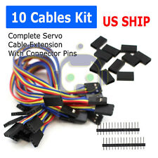 10Pcs Servo Extension Lead Wire Cable For RC Futaba JR Male to Female 20cm N204