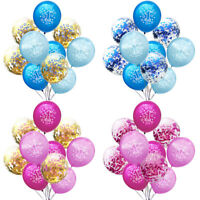Blue Pink Boy Girl 1st Birthday Latex Balloons Set Confetti Balloon Baby Shower