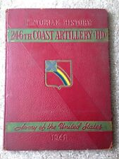 1941 US ARMY 246th COAST ARTILLERY YEARBOOK, WWII, WORLD WAR II, FORT STORY, VA