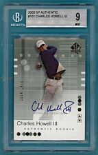 2002 UD SP Authentic Golf Charles Howell III Auto #101 BGS 9! Mint!