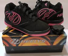 Heely's Propel 2.0 Black Hot Pink Shoes Sz 3 Youth w/Tool Caps & Box Rollerskate