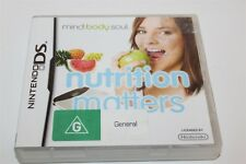 Nintendo DS Nutrition Matters Game Complete Mind, Body, Soul