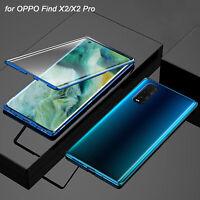 Hülle für OPPO Find X2 Pro Full Cover 360 Grad Handy Schutz Case Tasche Silber