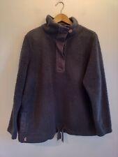 Ladies Joules Sweatshirt Plus Size 18 Funnel Neck Teddy Bear Fleece Jumper Grey