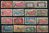 FRANCE REUNION 16 different stamps