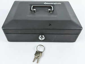 SentrySafe CB-10 Small Locking Cash Box with 2 keys Grey