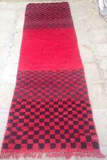 Marocchino boujaad Lana Rossa Tappeto 290 x 84cm (#280)