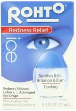 Rohto Ice Eye Drops, Lubricant, Redness Relief, 0.4 fl oz (3 Pack)