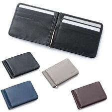 Мужской тонкий кожаный складной ID кредитной карты бумажника со съемными зажим для денег