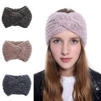 Ladies Tie Hairband Turban Headband Stretch Bow Knit Head Wrap Hair Bandanas