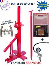 DEMONTE PNEU MANUEL AUTO + 1 Kit reparation pneu + Manometre + 2 Proteges Jante