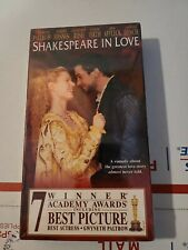 Shakespeare In Love Ben Affleck Gwyneth Paltrow Vhs New Sealed In Box 18560