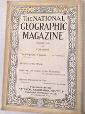 National Geographic Magazine No Map Geography Games August 1919 081517nonrh