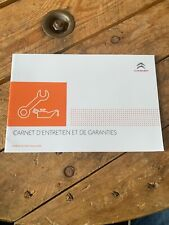 Carnet D Entretien Citroën D Origine