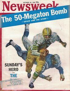 1961 Newsweek October 30 - Jackson MS; Green Bay Packers Hornung, Lombardi; KKK
