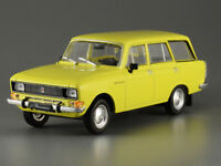 Moskvitch-2137 Yellow 1976 Year 1/43 Scale Soviet Station Wagon Collectible Car