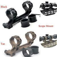 Tactical Double Ring 1''/30mm Scope Mount Fit 20mm Dovetail Cantilever Black/Tan