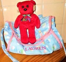 Namesake Bear Celebrity Bear Lauren & Bag **REDUCED**