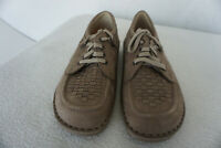 FINN COMFORT Denver Schuhe Schnürschuhe mit Einlagen Gr.40 Nubuk Leder Beige NEU