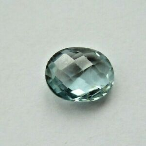 NATURAL MULTI-FACETED BLUE TOPAZ 4.625 carats 11mm x 9mm oval
