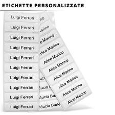 100 etichette bianche termoadesive personalizzate