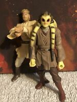 Vintage Hasbro Star Wars Action Figure Lot of 2 Kit Fisto Obi Wan Kenobi