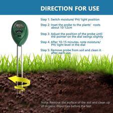 DE Tragbar 3-in-1 Boden PH Meter Messgerät Bodentester für Garten Pflanzen Gras