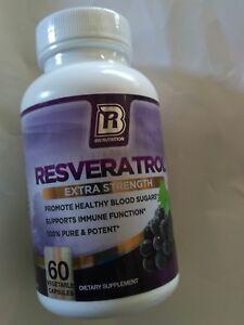 BRI Nutrition Resveratrol - 1200mg Extra Strength Supplement 60 Veggie Capsules