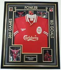 Luxury Robbie Fowler Signed Photo Picture with Shirt Jersey Autographed Display