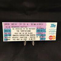 Temptations Dakota Exposition Center SD Concert Ticket Stub Vintage May 1997