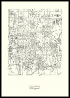 Daniel Libeskind Micromega Poster Kunstdruck mit Alu Rahmen in schwarz 100x70cm