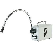 AmScope 50W LED Fiber Optic Single Gooseneck Light Microscope Illuminator