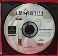 Final Fantasy IX Disc 3 ONLY !!! -  Playstation 1 2 PS1 PS2 Rare Game - Tested