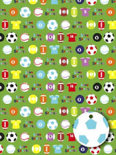 LIVE MULTI SPORTS Gift Wrapping Sheets & 2 x Tags ~ Quick Dispatch ~FREE UK POST