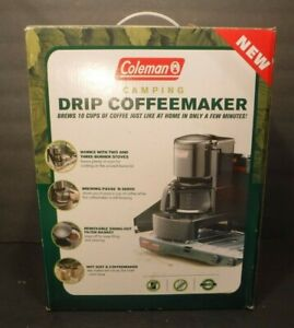 Coleman Camping Stove Drip Coffee Maker 10 Cup Model #5008-700 Hot Water Cocoa