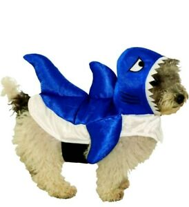 Blue Baby Shark Pet Costume Pet Wear Clothes Dog Cat Sharknado Size Medium