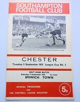SOUTHAMPTON v  CHESTER  LEAGUE CUP 2ND ROUND 1972 1972  THE DELL