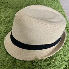 D&Y Tan Fedora Cotton & Linen Blend Hat ONE SIZE