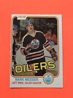 Mark Messier 1981-82 O-Pee-Chee NHL Hockey Card #118