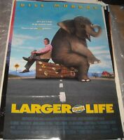 1996 BILL MURRAY LARGER THAN LIFE 1 SHEET MOVIE POSTER DOUBLE SIDED COMEDY