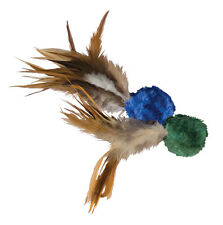 KONG Naturals Crinkle BALL with Feathers Cat Toy (CC4)