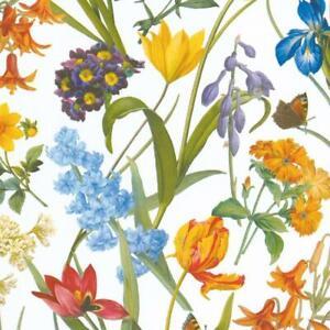 Caspari 5' Continuous Gift Wrap Roll, Redoute Floral (9027RSC)