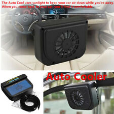 Solar Power Style Car Window Windshield Auto Air Vent /Fan Cooler Radiator Clean